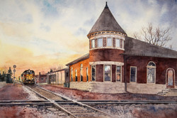 Grinnell Depot at Sunset