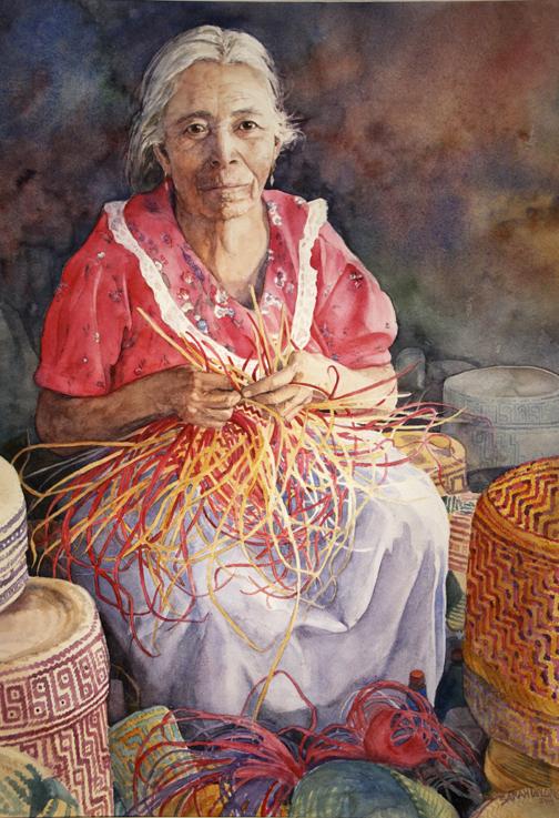 Oaxacan Basket Weaver