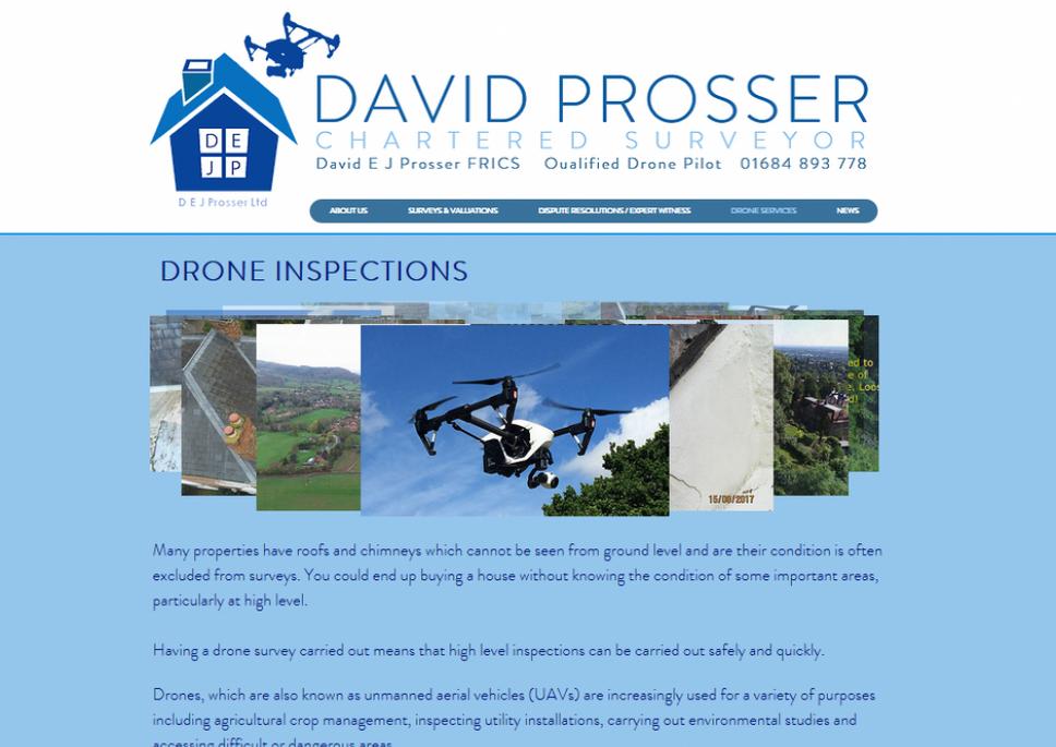 Website Created for DEJ Prosser