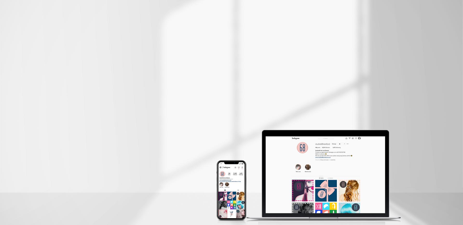 Instagram Designed for Studio 68