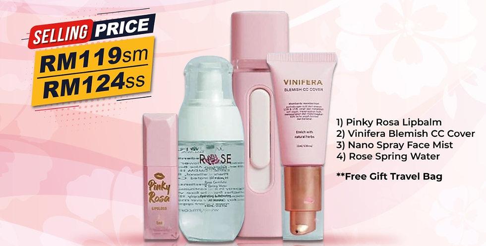 Rose Pinkish Edition Set Kecantikan