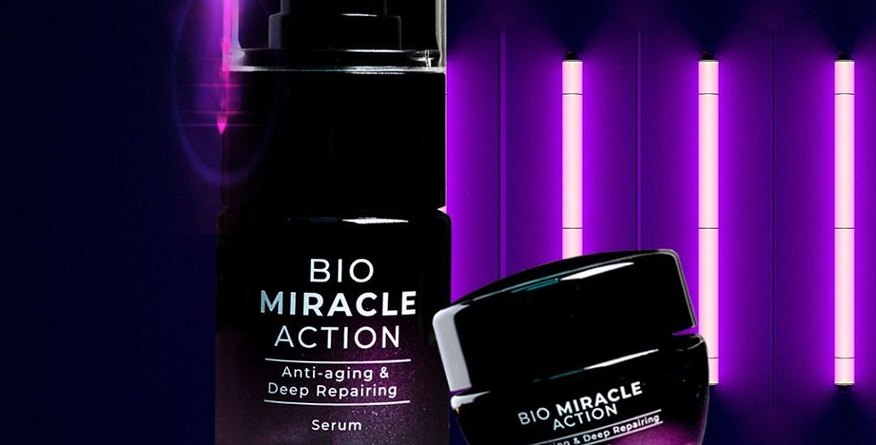 Bio Miracle Action Cream & Serum (Free Pouch Bag)