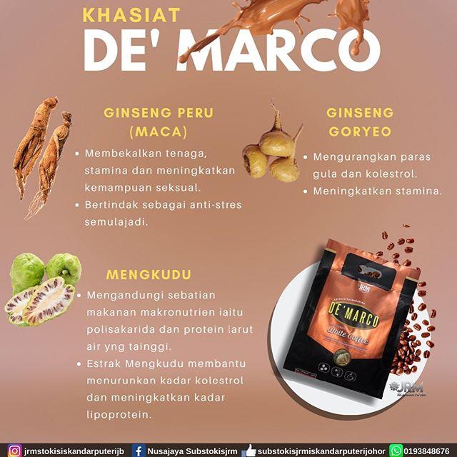 deMarco-White-Coffee_kandungan
