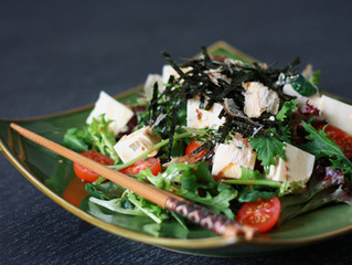 Japanese Tofu Salad with Sesame Dressing