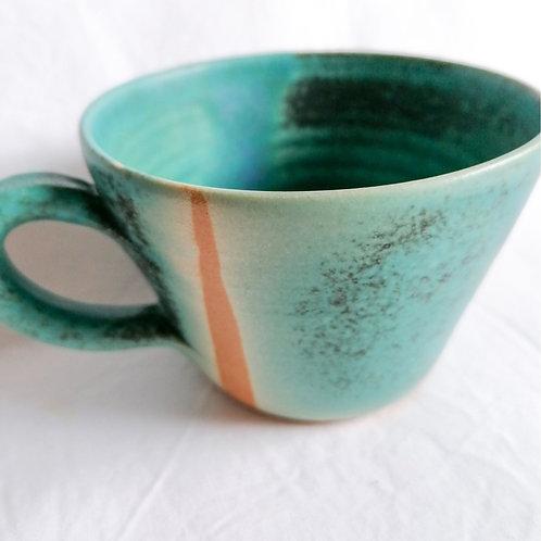 Tasse (Blau/Braun)