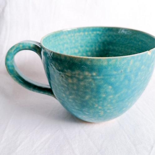Tasse (Blau mit Struktur)