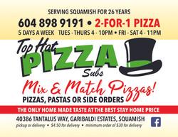 Top Hat Pizza - June 2021 - Taste Of Squamish