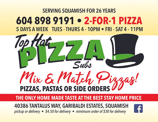 Top Hat Pizza - June 2021 - Taste Of Squ