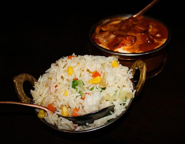 Butter chicken & rice.JPG