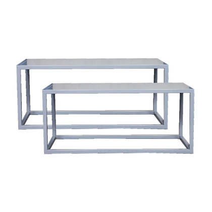Pair of Minimalist Metal Benches