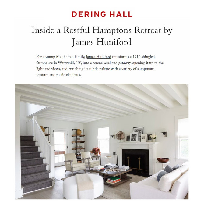 Huniford Featured On Dering Hall
