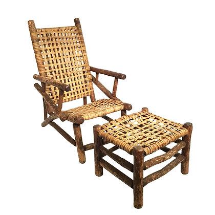 Hickory Chair & Ottoman
