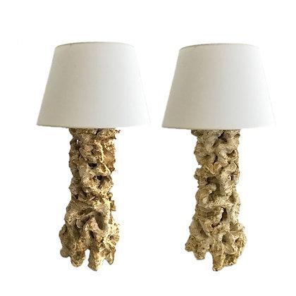 CERAMIC CORAL LAMPS BY PETER LANE