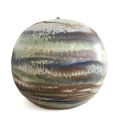 Large Ceramic Sphere Vase Sculpture by Antonio Lampecco
