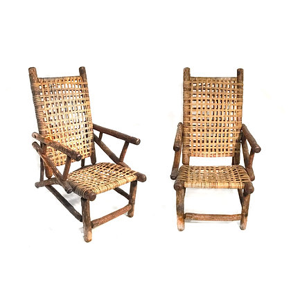 Pair of Old Hickory Style Chairs