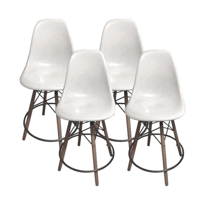 Groovy Set Of 4 Eames Stools Squirreltailoven Fun Painted Chair Ideas Images Squirreltailovenorg