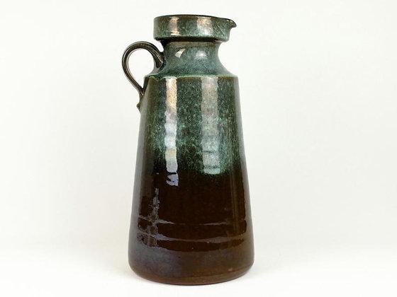 Green-Black, German Vase with Handle