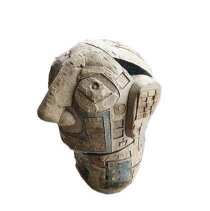 Cubist Clay Sculpture by Artist, Doug Rochelle