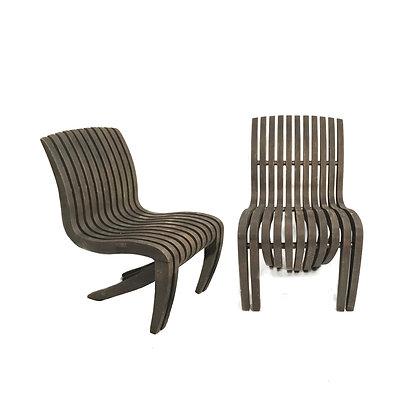 "Pair of Teak ""Spirit Song"" Chairs by Robert Tiffany"