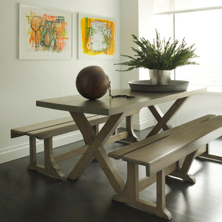 COURTLANDT TABLE & BENCHES