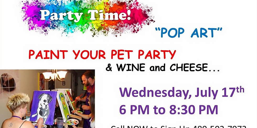 Paint Your Pet Party & A Little Wine and Cheese!