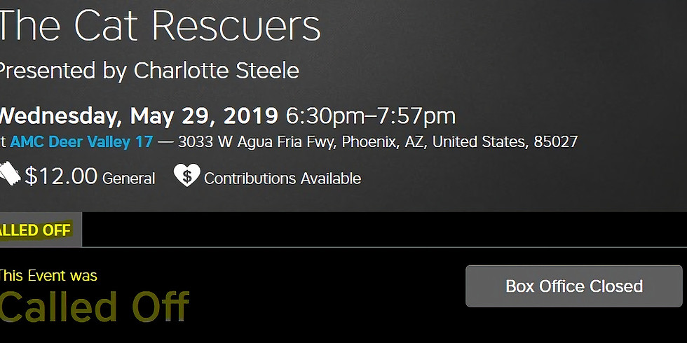The Cat Rescuers Presented by Charlotte Steele