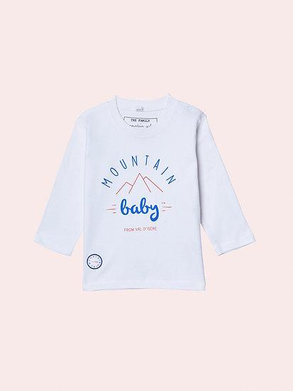 MOUNTAIN BABY- Tee shirt tricolore bébé