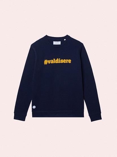 women sweatshirt organic cotton #valdisere navy