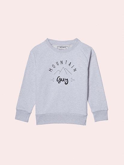 STEADY - Sweatshirt blanc & gris enfant