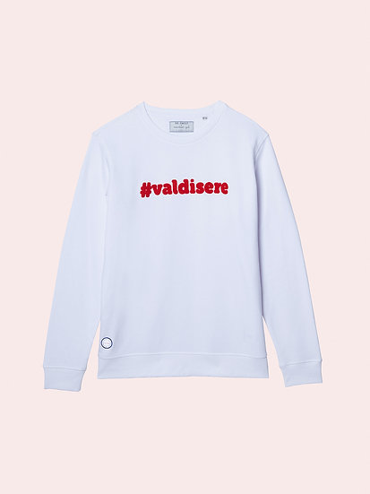 #VALDISERE - Sweatshirt blanc bouclette