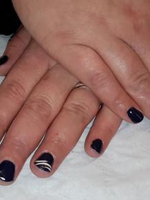 vernis semi permanent couleur + nail art