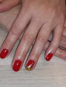"Vernis semi permanent + nail art ""Noël"""