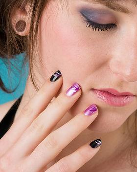 vernis-nail art - l'éclat de rose - bres