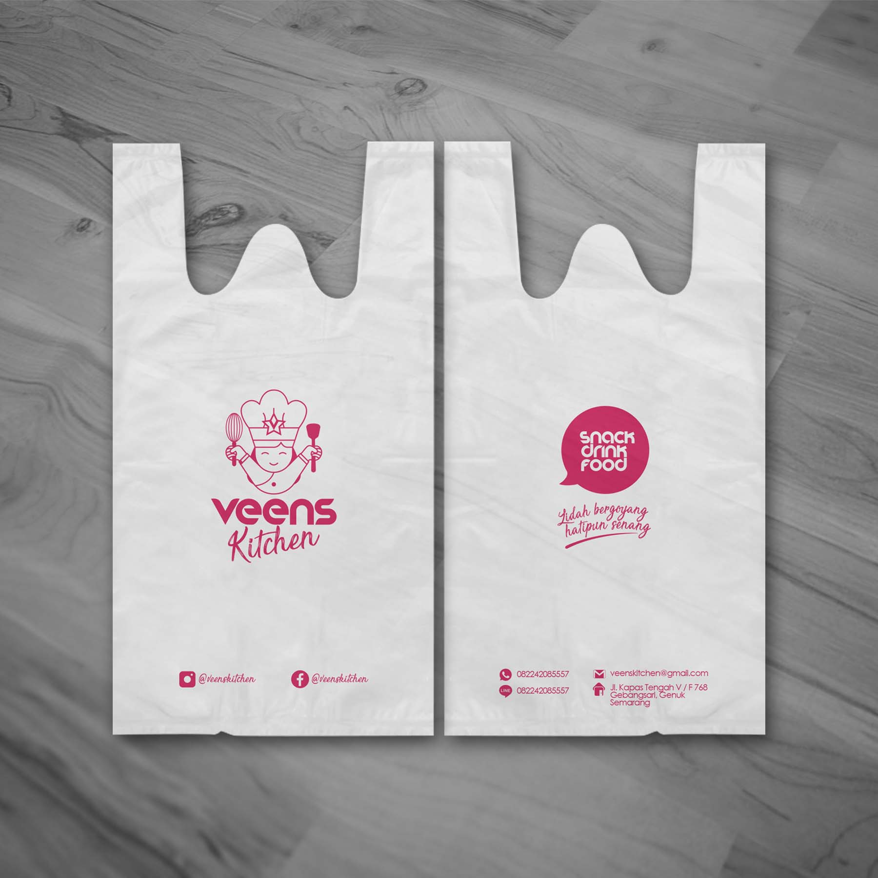 Veens Kitchen Plastic Bag