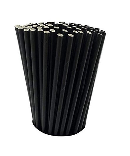 """Unwrapped 5.75"""" Black 3-PLY Bar Stir Cocktail - 1,000 Count"""