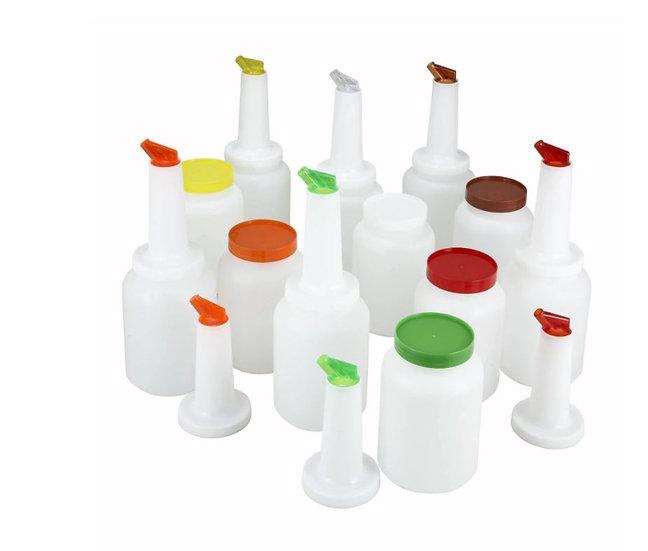 2qt Liquor/Juice Pour Bottle, 12 pcs/cs, 2 of Each Color