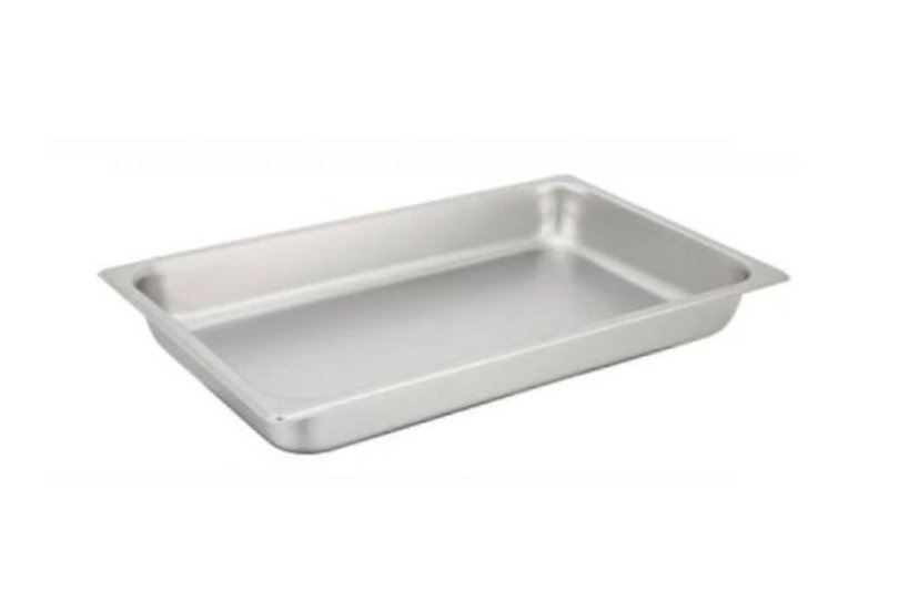 "Straight-sided Steam Pan, Full-size, 2-1/2"", 25 Ga S/S"