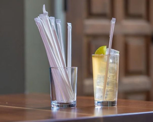 """Wrapped 5.75"""" White 3-PLY Paper Jumbo Cocktail - 100 Count"""
