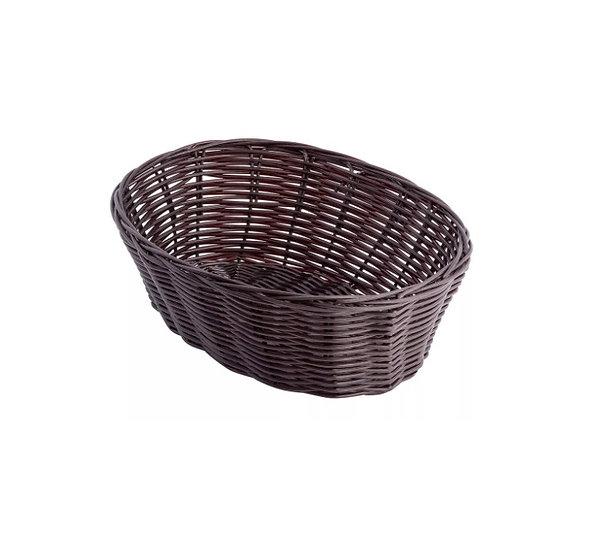 "3"" Oval Brown Rattan Basket - Each"