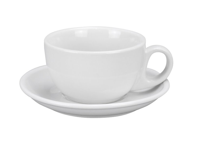 "6"" saucer, narrow rim super white [36/1]"