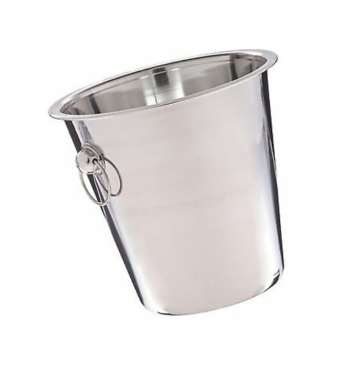 """7 1/2"""" Stainless Steel Wine / Champagne Bucket - 4 Qt."""