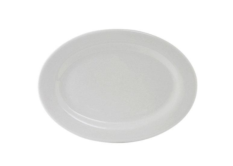 "9.50"" X 6.50"" Oval Platter, Super White ABCO [24/1]"