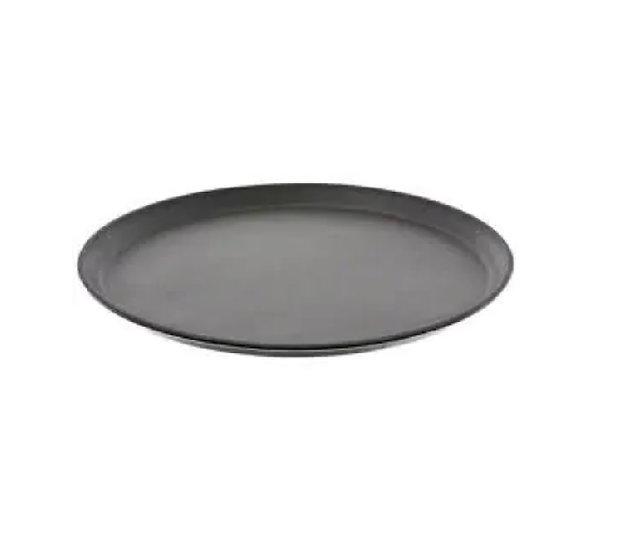 "14"" Premium Fiberglass Tray, Non-slip, Black, Round"