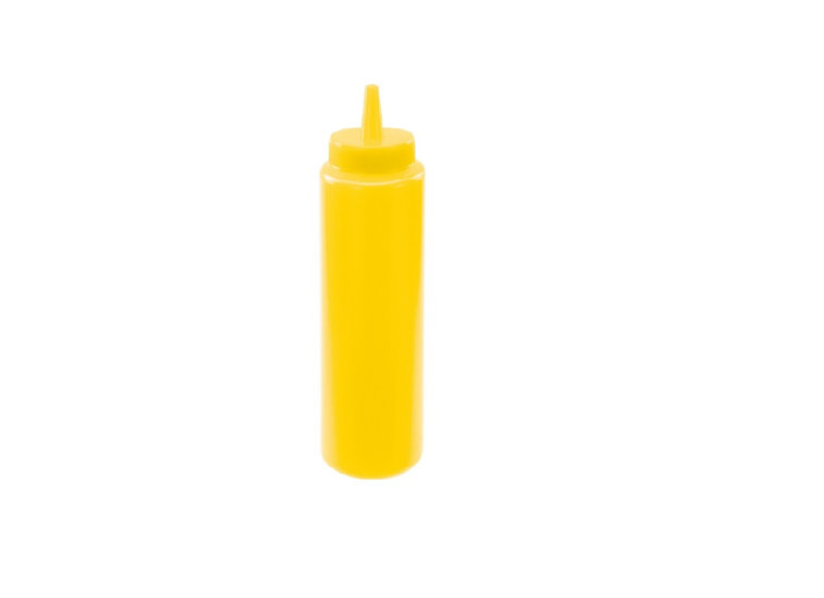 8oz Squeeze Bottles, Yellow, 6pcs/pk