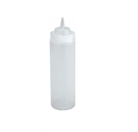 16oz Squeeze Bottles, Wide Mouth, Clear, 6pcs/pk