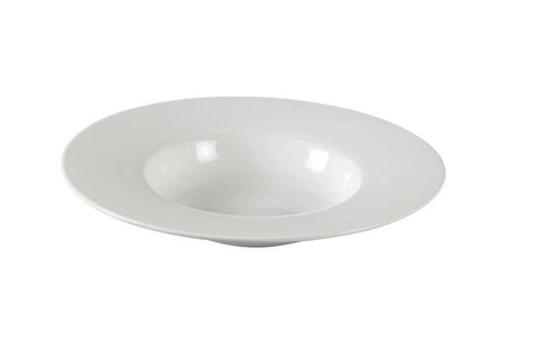 "9.25"" dessert plate 2"" deep 10 oz, super white abco [12/1]"