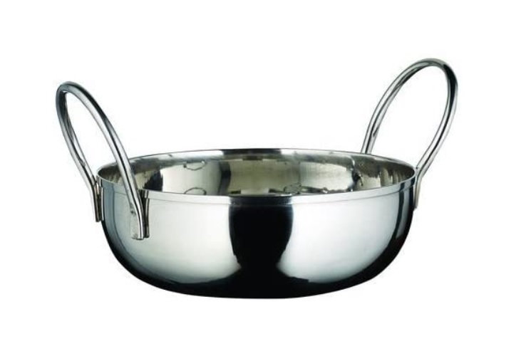 """Kady Bowl with Welded Handles, S/S, 40 oz., 7"""" Dia., 1.5"""" H"""