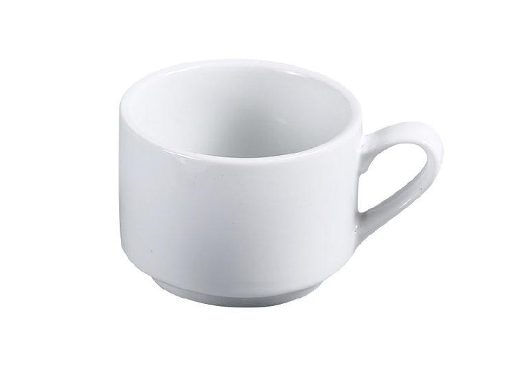 "3.25"" stackable cup 7 oz, super white abco [36/1]"