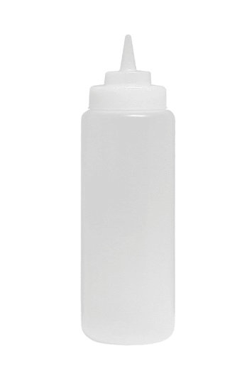 24 oz Clear Squeeze Bottle - 6 pack