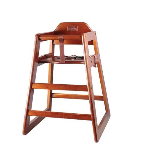 Walnut Wood High Chair, ASTM Compliant, KD
